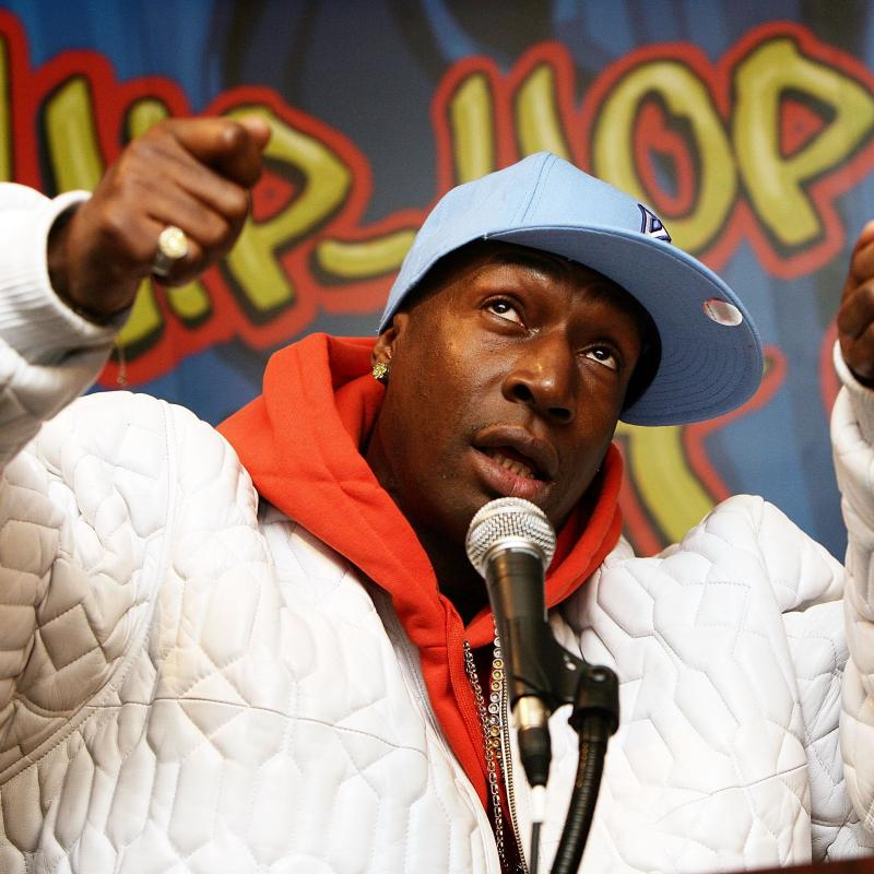 Grandmaster Flash speaking at a Hip Hop history event at the Smithsonian