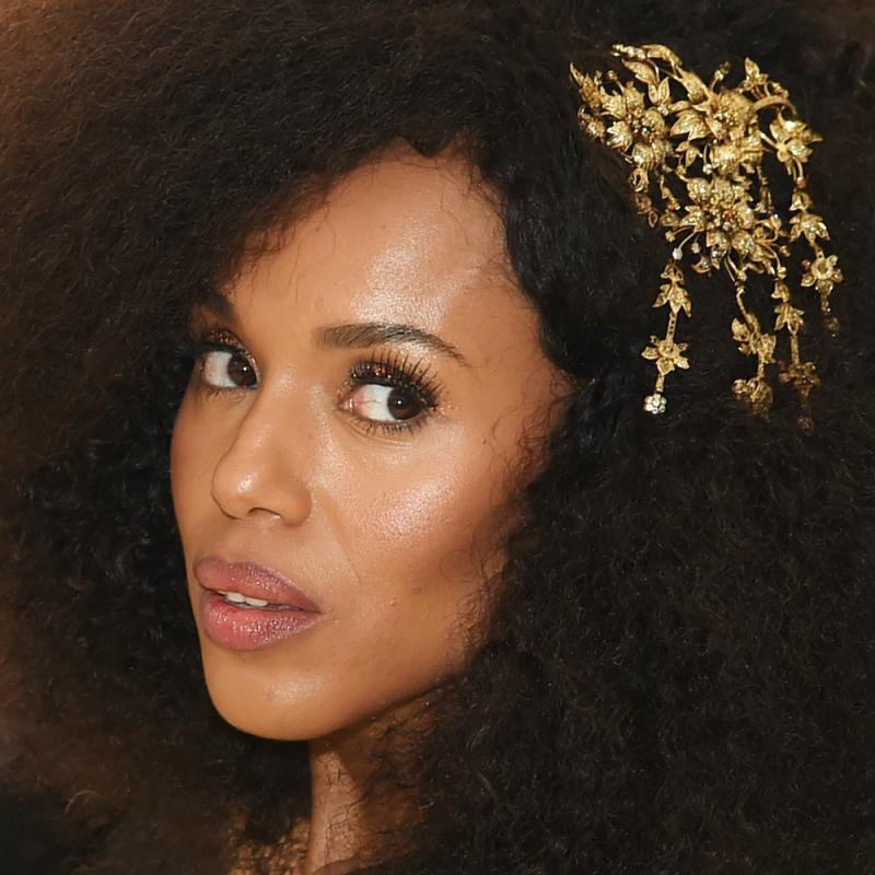 Actress Kerry Washington looks past the camera